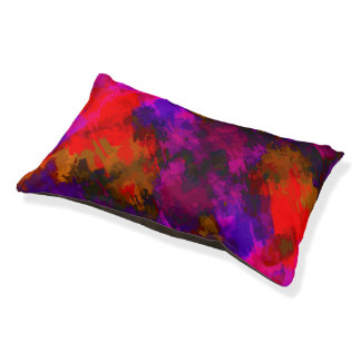 Colorful Abstract Pet Bed