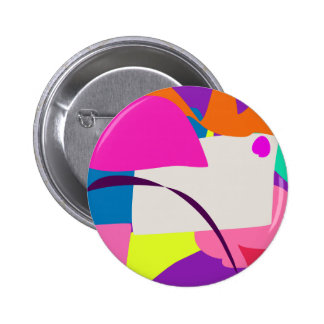 Colorful Abstract Picture 2 Inch Round Button