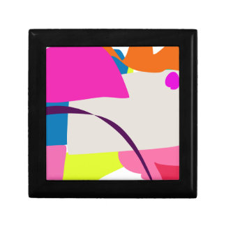 Colorful Abstract Picture Jewelry Box