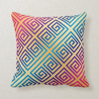 Colorful abstract pillow