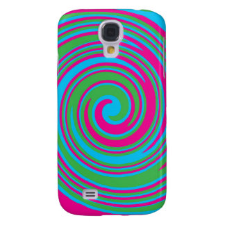Colorful abstract pinwheel design galaxy s4 case