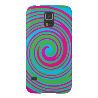 Colorful abstract pinwheel design galaxy s5 cover