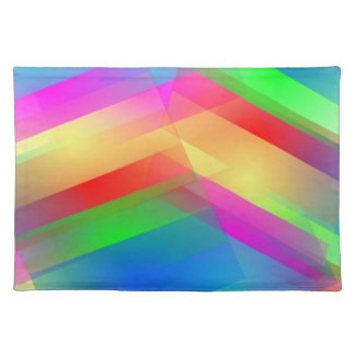 Colorful Abstract Cloth Place Mat