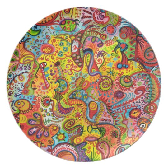 Colorful Abstract Plate