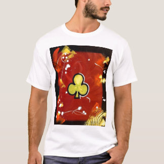 Colorful Abstract Poker Arts Clubs Maroon Vegas T-Shirt