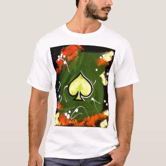 Colorful Abstract Poker Arts Spades T shirt Vegas