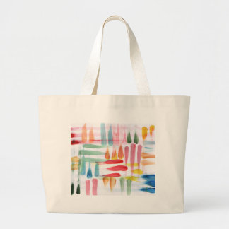 Colorful Abstract poster paint with finger tips Large Tote Bag