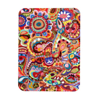 Colorful Abstract Premium Art Magnet