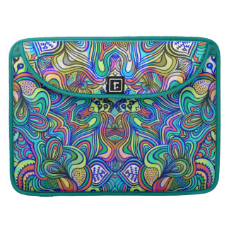 Colorful Abstract Psychedelic Geometric Swirls MacBook Pro Sleeve
