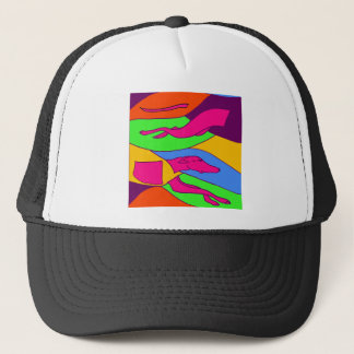 Colorful Abstract Racing Greyhound Dog Art Trucker Hat