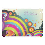 Colorful Abstract Rainbows, Stars & Bubbles iPad Mini Covers