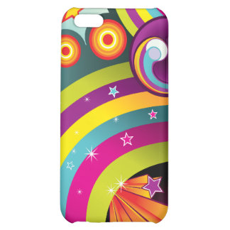 Colorful Abstract Rainbows, Stars & Bubbles iPhone 5C Cover