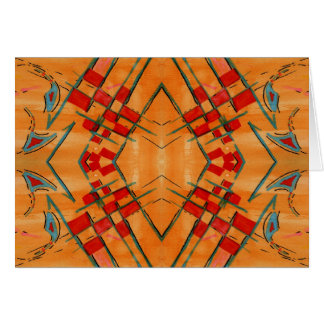 Colorful Abstract Red Design - Hand Painted Greeting Cards