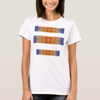 Colorful Abstract Red Design - Hand Painted T-Shirt