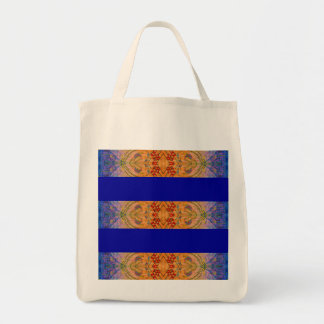 Colorful Abstract Red Design - Hand Painted Tote Bag