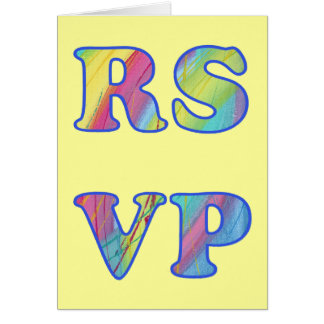 Colorful Abstract RSVP Note Cards