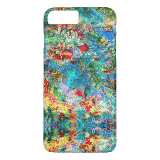 Colorful Abstract Rustic Floral Design 2 iPhone 7 Plus Case