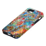 Colorful Abstract Rustic Floral Design iPhone 5 Cover