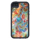 Colorful Abstract Rustic Floral Design iPhone 5 Covers