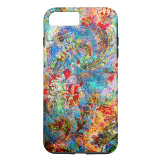 Colorful Abstract Rustic Floral Design iPhone 7 Plus Case