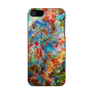 Colorful Abstract Rustic Floral Design Incipio Feather® Shine iPhone 5 Case