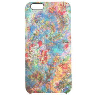 Colorful Abstract Rustic Floral Design Uncommon Clearly™ Deflector iPhone 6 Plus Case