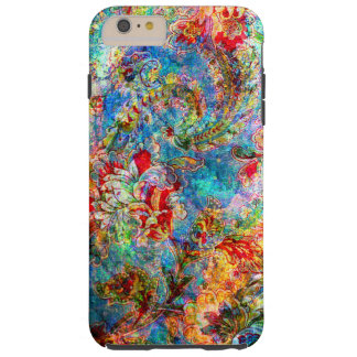 Colorful Abstract Rustic Floral Design Tough iPhone 6 Plus Case