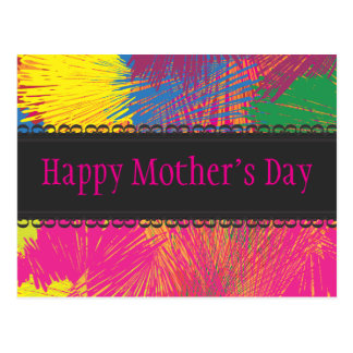Colorful Abstract Scribble Postcard