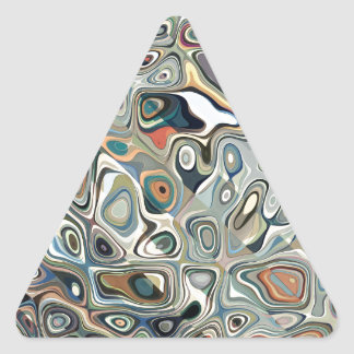 Colorful Abstract Shapes 2 Triangle Sticker