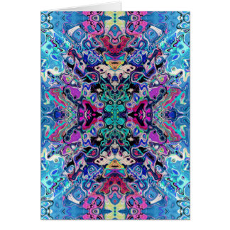 Colorful Abstract Shapes Card