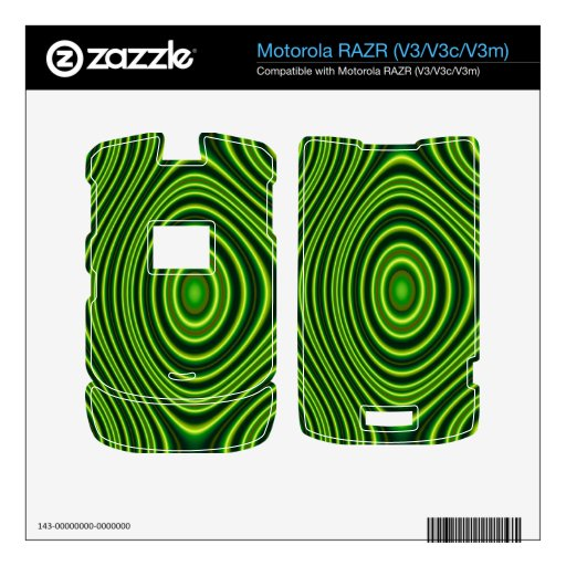 Colorful abstract shapes skin for motorola RAZR