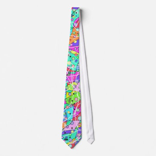 Colorful abstract shapes. tie