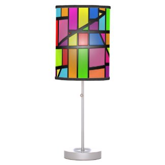 Colorful abstract Shiny Tiles Table Lamp