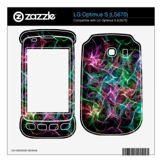Colorful Abstract Silk Pattern Decals For LG Optimus S