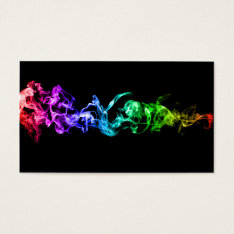Colorful Abstract Smoke - A Rainbow In The Dark Business Card at Zazzle