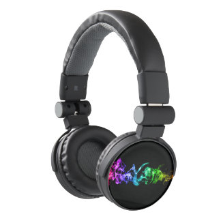 Colorful Abstract Smoke - A Rainbow in the Dark Headphones