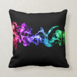 Colorful Abstract Smoke - A Rainbow in the Dark Pillow