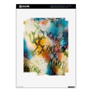 Colorful abstract snake skin pattern decal for iPad 3