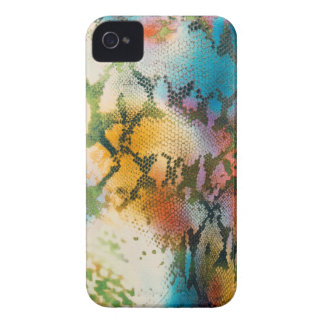Colorful abstract snake skin pattern iPhone 4 covers