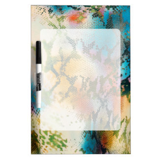 Colorful abstract snake skin pattern dry erase board