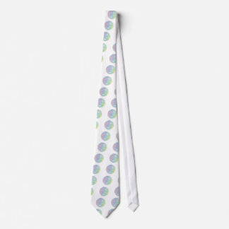 Colorful abstract sphere neck tie