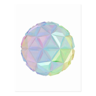Colorful abstract sphere postcard