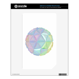 Colorful abstract sphere decals for NOOK color
