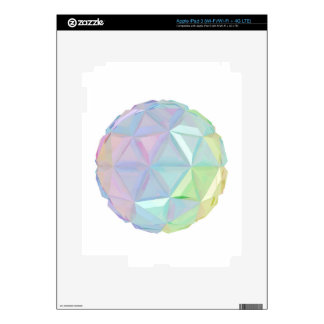 Colorful abstract sphere iPad 3 decals