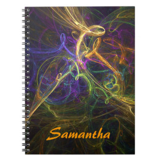 Colorful Abstract Spiral Bound Notebook