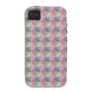 Colorful abstract square and triangle Case-Mate iPhone 4 covers