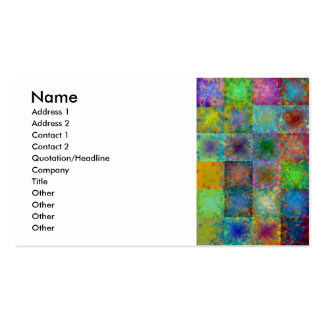 Colorful abstract squares business card templates