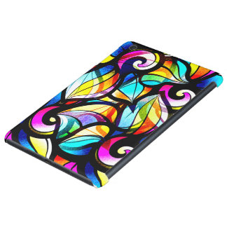 Colorful Abstract Stained Glass Design iPad Mini Covers