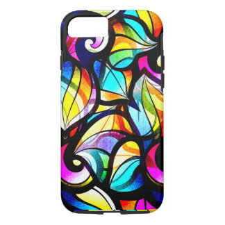 Colorful Abstract Stained Glass Design iPhone 8/7 Case