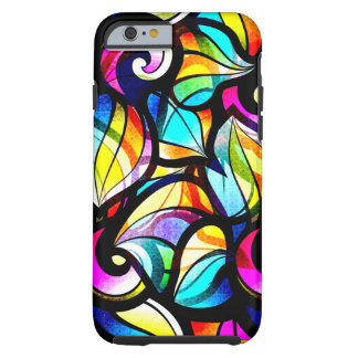 Colorful Abstract Stained Glass Design Tough iPhone 6 Case